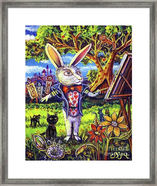 White Rabbit Alice In Wonderland Framed Print