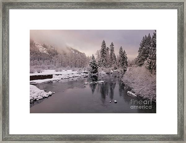 White River Dawn Framed Print