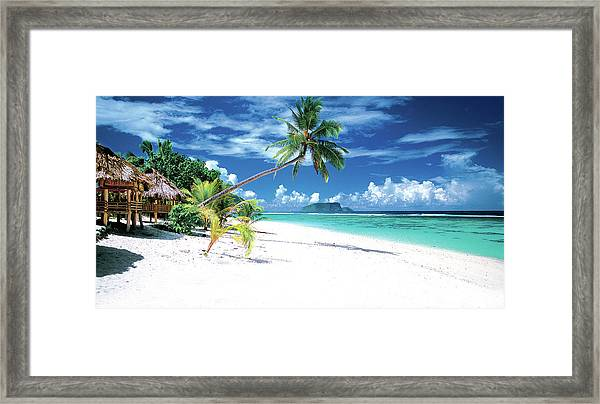 White Sand Beaches Of Samoa Framed Print
