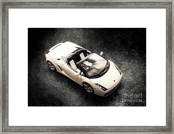 White Spyder Framed Print