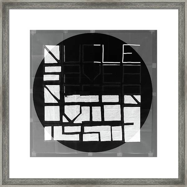 White To Black - Nucle Framed Print