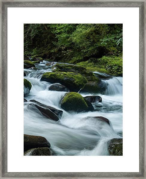 White Water Framed Print