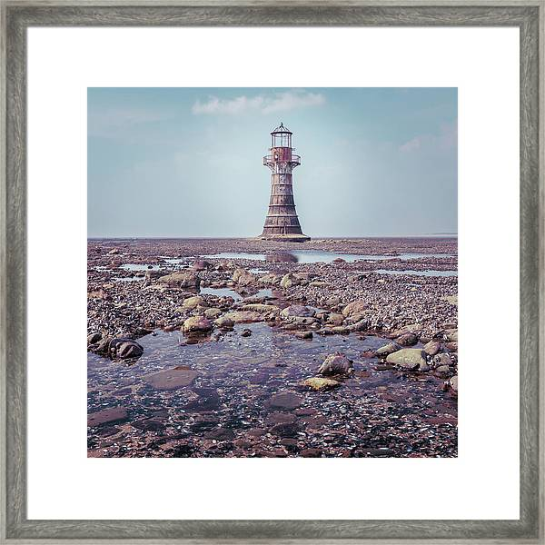 Framed Print featuring the photograph Whiteford Point Lighthouse by Elliott Coleman