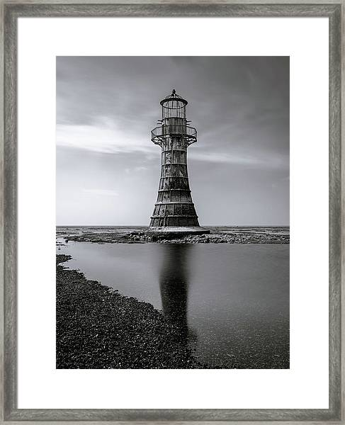 Framed Print featuring the photograph Whiteford Point Lighthouse Reflections by Elliott Coleman