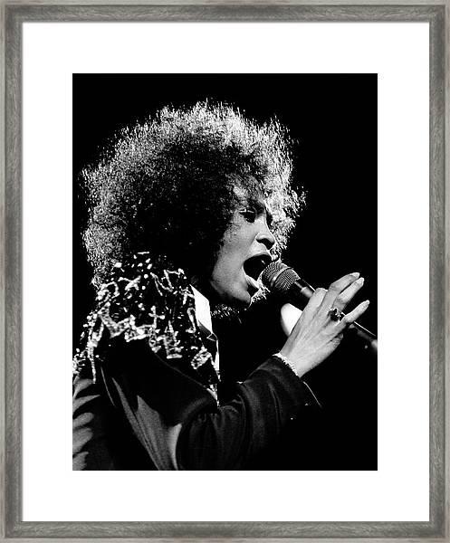 Whitney Houston Live In Concert Framed Print by Raymond Boyd