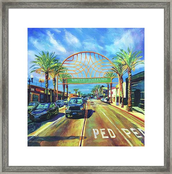 Whittier Arch At Noon Framed Print