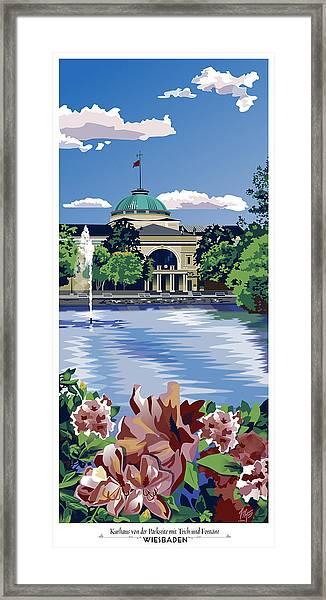 Wiesbaden Kurhaus Framed Print