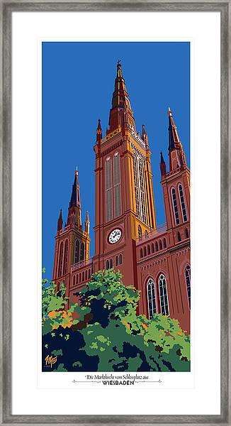 Wiesbaden Marktkirche  Framed Print