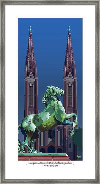 Wiesbaden St. Bonifatius Framed Print