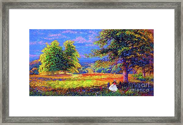 Wildflower Fields Framed Print