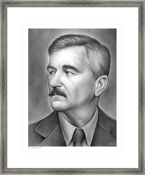 William Faulkner Framed Print