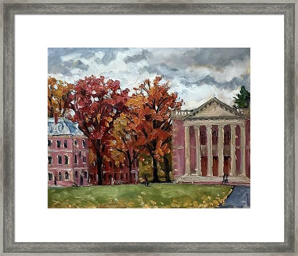 Williams College Rainy Autumn Framed Print
