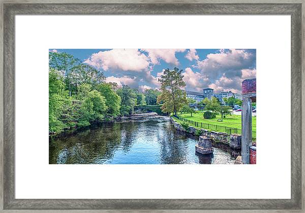 Willimantic River With Clouds Framed Print