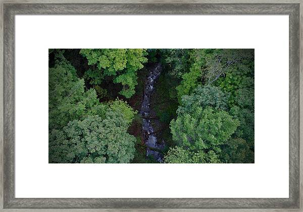 Willow Run Creek Framed Print