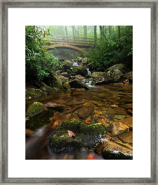 Wilson Creek Bridge Tanawha Trail - Blue Ridge Parkway Framed Print