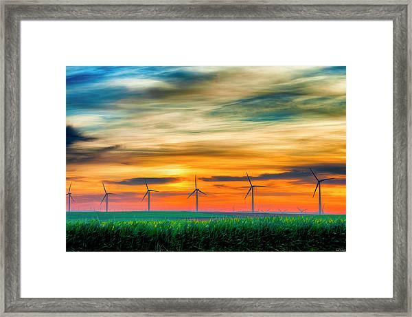 Wind Energy Sunrise Framed Print