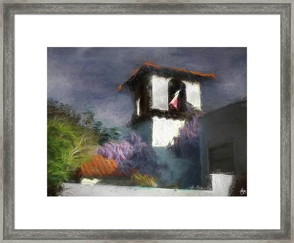 Wind In The Tower Washline Framed Print
