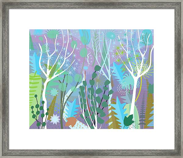 Wind In Winter Forest Framed Print