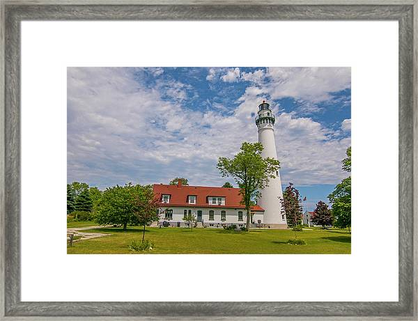 Wind Point Lighthouse  Framed Print