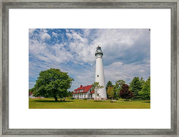 Wind Point Lighthouse No 3 Framed Print