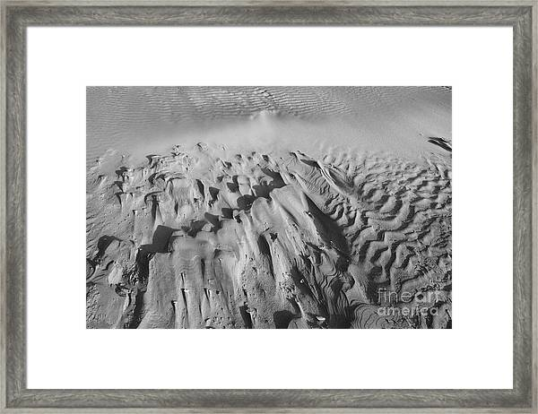 Framed Print featuring the photograph Wind Textures 2 by Jeni Gray
