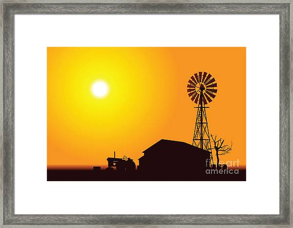 Wind Turbine Framed Print