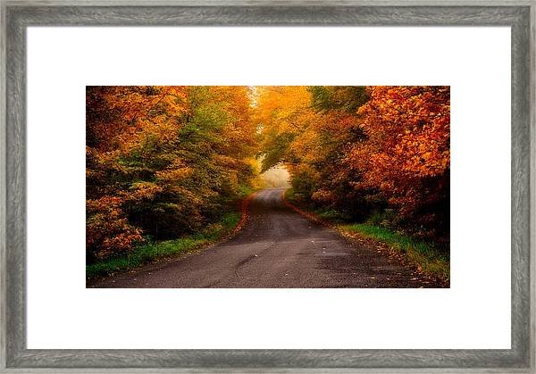 Framed Print featuring the photograph Winding Road by Bryan Smith
