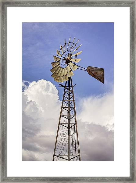 Windmill Before The Storm Framed Print