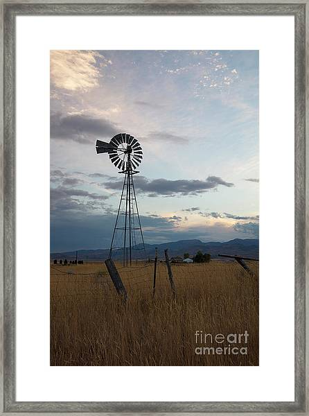 Windmill In Evening Framed Print