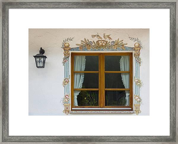 Window At Hofgut Sternen Framed Print