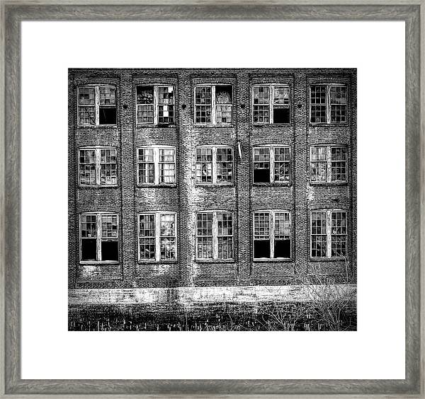 Windows Of Old Claremont Framed Print