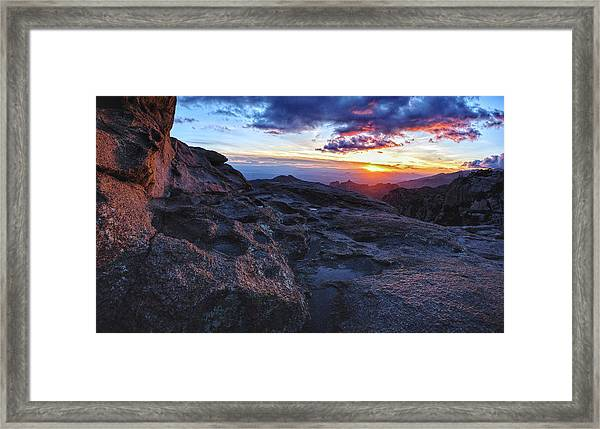 Windy Point Sunset Framed Print