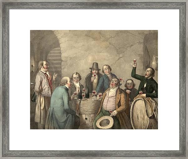 Wine Tasters Framed Print