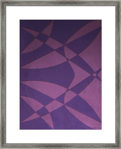 Wings And Sails - Purple And Pink Framed Print