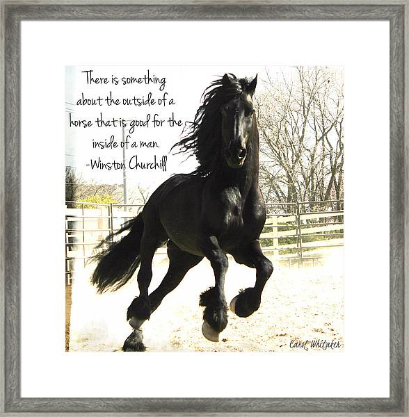 Winston Churchill Horse Quote Framed Print