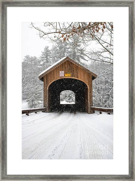 Winter At Babb's Bridge Framed Print