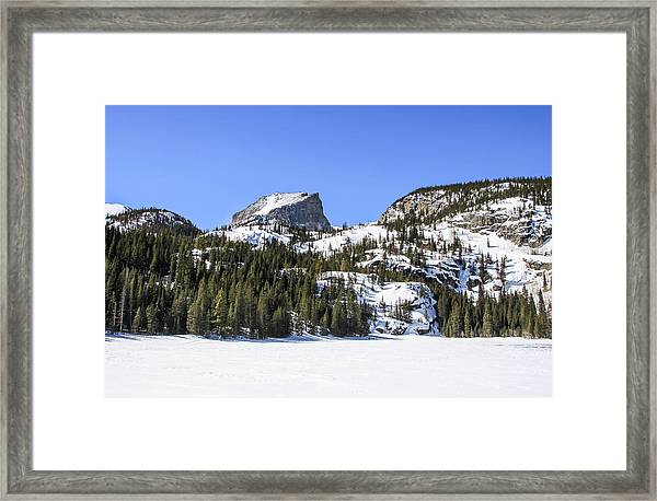 Framed Print featuring the photograph Winter At Notchtop Mountain by Dawn Richards