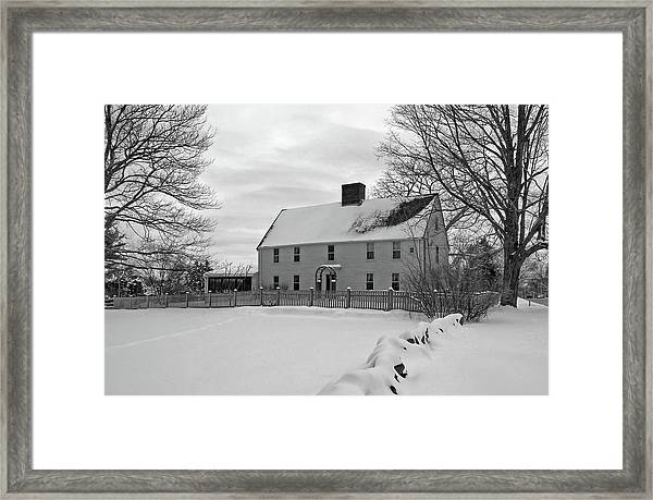Winter At Noyes House Framed Print