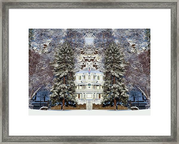 Winter At The Susanville Elks Lodge Framed Print