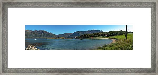 Winter Beach In Norway Framed Print