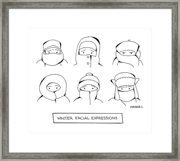 Winter Facial Expressions Framed Print