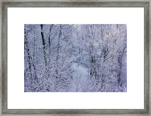 Winter Ice Storm Framed Print