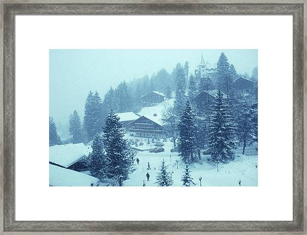 Winter In Gstaad Framed Print