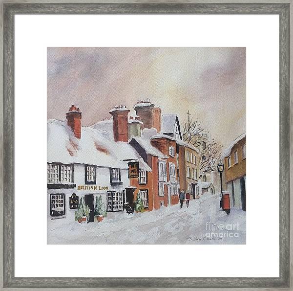 Winter On The Bayle. Folkestone Framed Print