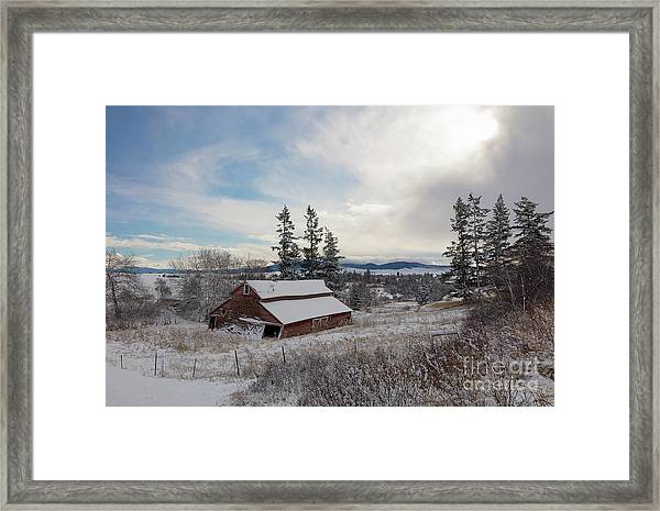 Winter Rustic Framed Print