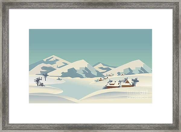 Winter Season Nature Landscape Framed Print