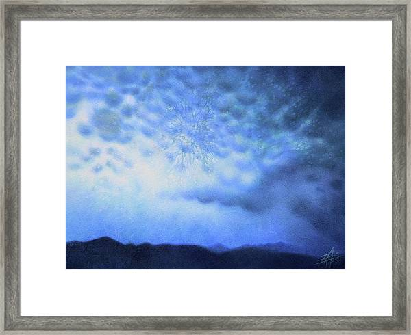 Winter Storm Or Mammatus Clouds Over Black Mountain Framed Print by Robin Street-Morris