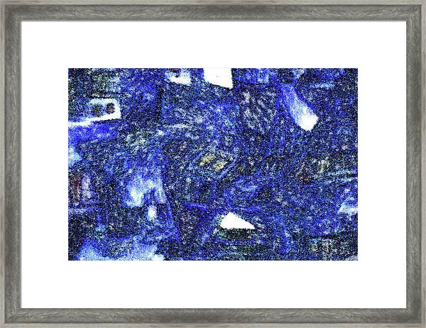 Winter Town Framed Print