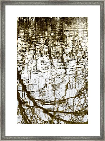 Winter Water Reflection - 19-5012  Framed Print