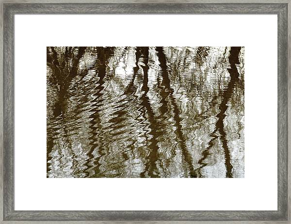 Winter Water Reflection - 5059-19 Framed Print